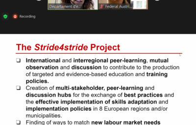 Stride for Stride project showcased in the OECD Policy Dialogue on adult learning in cities